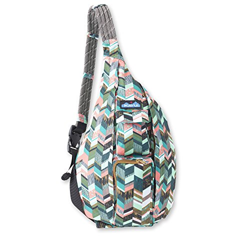KAVU Original Rope Sling Bag Polyester Crossbody Backpack - Coastal Blocks