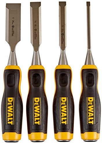Our #4 Pick is the DEWALT DWHT16063 Short Blade Wood Chisel 4piece Set