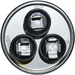 Genteq Capacitor Dual Run Round 35uF + 5uf MFD (micro Farad) 370 Volt VAC 97F9834 (replace old GE# Z97F9834) 35uF/5uF at 370 volts