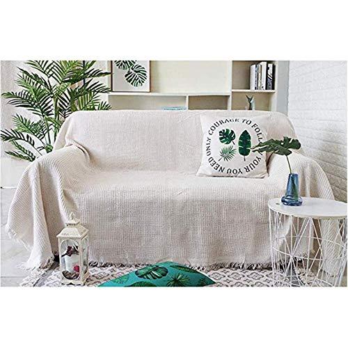 KKDIY Protector Lavable para Muebles, Manta con Flecos, Funda de sofá Suave y Ligera, Mantas para Exteriores de Granja, Toalla para sofá-90x240cm