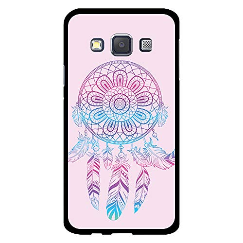 BJJ SHOP Funda Negra para [ Samsung Galaxy A3 2015 ], Carcasa de Silicona Flexible TPU, diseño: Atrapasueños Degradado, Rosa y Azul