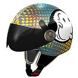 NZI 3D Vintage II Blisscross by Olive Oyl Casco de Moto, Ilu