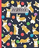 Notebook: Cute Welsh Corgi Cartoon - Lined Notebook, Diary, Track, Log & Journal - Gift Idea for Corgi Lovers (8'x10' 120 Pages)