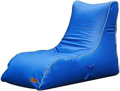 GJZM Lazy Sofa Sofa de Stockage Pouf Grandes chaises Beanbag pour Enfants Jouets Holder et Organisateur pour Les garçons et Les Filles,Bleu,135 * 65 * 90cm