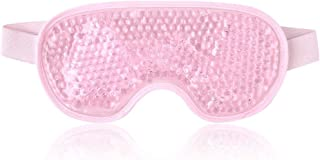 Luksuriøst Cooling Gel Ice Eye Mask, Reusable Hot Cold Pack Compress for Stress Relief, Headaches, Migraines, Puffiness, D...