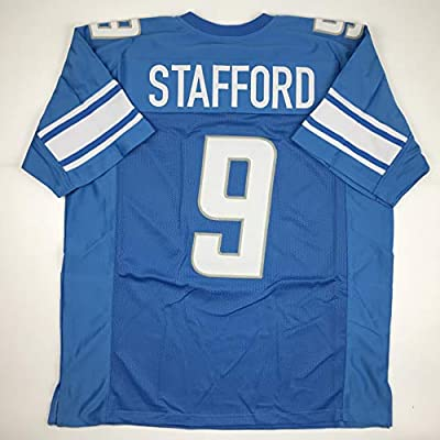 Unsigned Matthew Stafford Detroit Blue Custom Stitched Football Jersey Size XL New No Brands/Logos