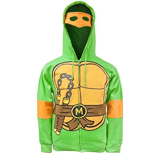 Teenage Mutant Ninja Turtles-Raphael Costume à capuche et fermeture Éclair pour homme - Orange - Medium