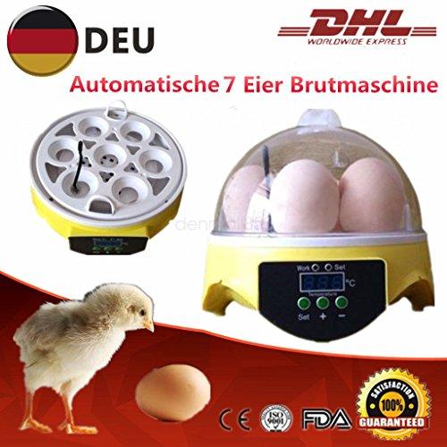 7 Eier Vollautomatische Brutkasten Inkubator Brutapparat Flächerbrüte Brutautomat Brutmaschine versand aus Deutschland
