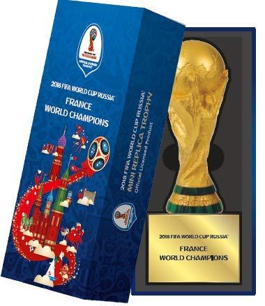 Édition spéciale ! Coupe du Monde 2018 : Réplique du trophée 3D France Champions du Monde avec boîte Bleue