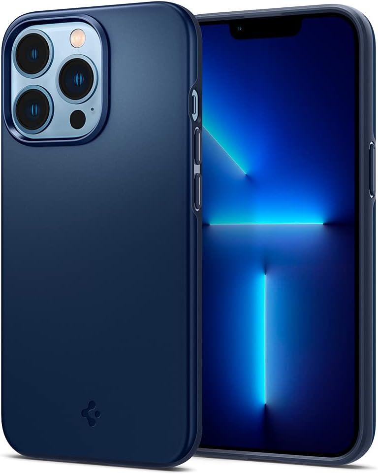 Spigen Thin Fit Designed for iPhone 13 Pro Case (2021) - Navy Blue