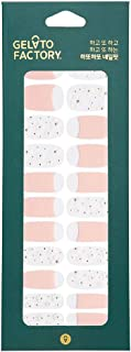 Gel Nail Strip by Gelato Factory - Ultra Shine 10 Minute Nail No Glue No Soak Off (Pink Flower)
