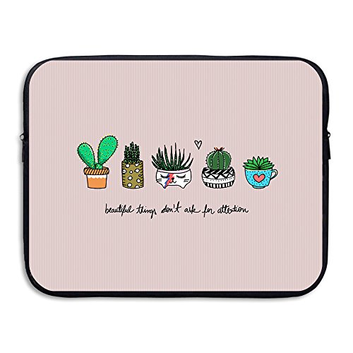 Business Briefcase Sleeve Cute Cactus Pattern Laptop Sleeve Case Cover Handbag for 13 Inch MacBook Pro/MacBook Air/Asus/Dell/Lenovo/Hp/Samsung/Sony