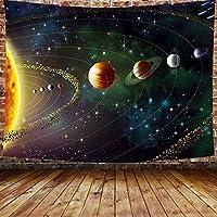 タペストリーの壁掛け プラネットタペストリー宇宙空間ギャラクシーユニバースプリントタペストリー寝室用壁画壁掛けリビングルーム寮家の装飾