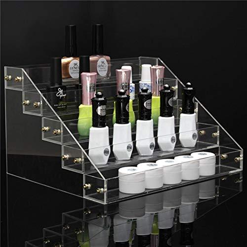 Yanshan 5 niveaux 40 support de présentoir de vernis cosmétique acrylique support de présentoir de vernis à ongles acrylique organisateur