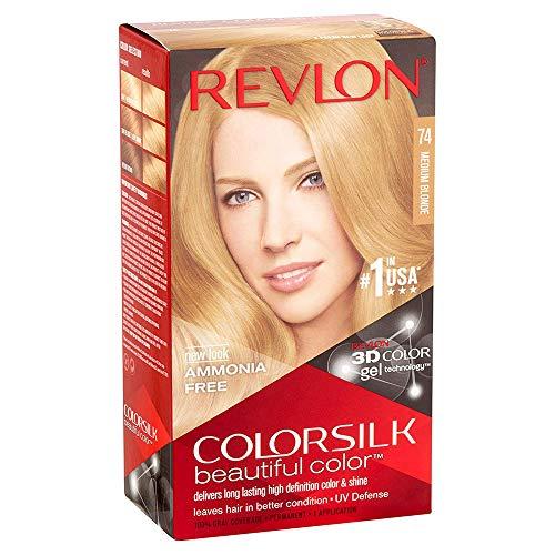 Revlon ColorSilk - Color para el cabello [74] Rubio medio (5 unidades)