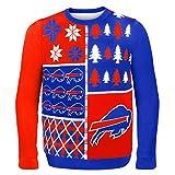NFL Buffalo Bills BUSY BLOCK Ugly Sweater, X-Large