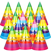 30ピース レインボー バースデーパーティーハット 誕生日パーティー コーンハット アートクラフトキャップ パーティーハット 子供 大人用