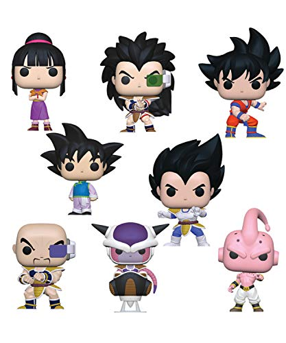 Funko Pop! Animation: Bundle of 8: Dragonball Z - Nappa, Vegeta, Goku, Radditz, Chi Chi, Goten, Frieza and Kid Buu image