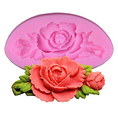 Errollina Cute Small Flower Silicone Mold Miniature Mould for Soap Fondant Sugar Pudding Cake Cookie Decorating Handmade DIY Craft Bake Sculpting Modeling Tool Tray(Color Random)