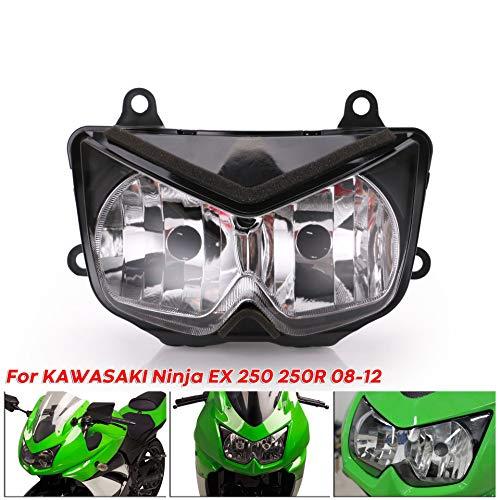 Motorradscheinwerfer Clear Front Scheinwerfer für Kawasaki Ninja 250R EX250 2008-2012 08 09 10 11 12 Z1000 03 04 05 06