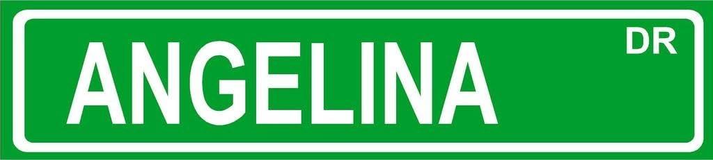 Angelina 5 popular Green Aluminum Street Sign 4