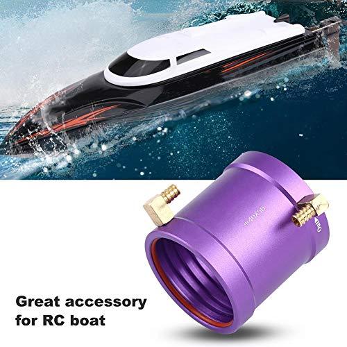 Dilwe RC Wasserkühlungsjacke, Metall RC Motor wassergekühlter Mantel-Kit für 4074/4082 Boot Schiff Motorteile