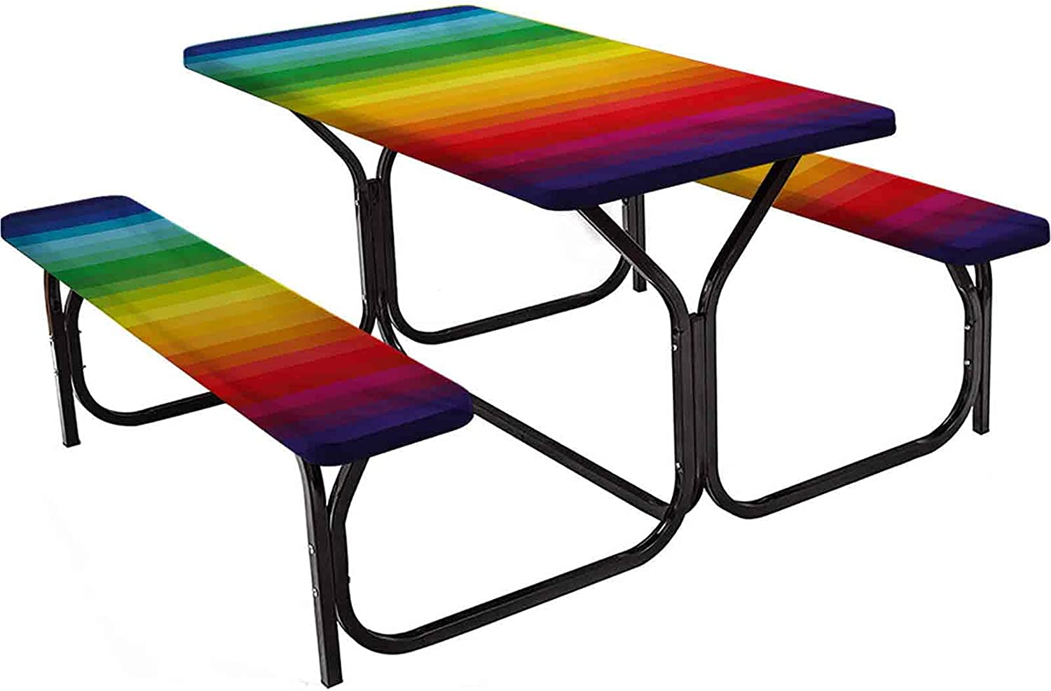 Rainbow Large-scale sale Popular popular Tablecloth Rectangular Fitting Cover Table Insp