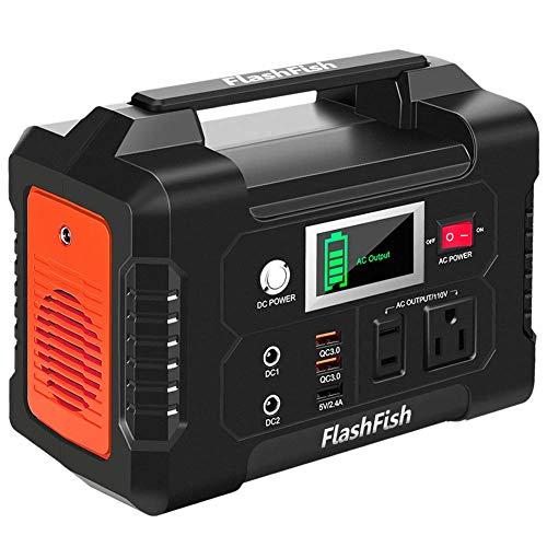 FlashFish ポータブル電源 大容量 小型発電機 40800mAh/151Wh AC(200W 瞬間最大250W) DC(120W) USB出力 家庭用蓄電池 急速充電QC3.0搭載 純正弦波 ポータブルバッテリー モバイル電源 三つの充電方法 ソー