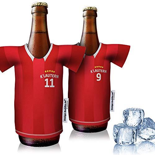 vereins-Trikot-kühler Home für FC Kaiserslautern Fans   2er Fan-Edition  2X Trikots   Fußball Fanartikel Jersey Bierkühler by Ligakakao