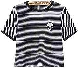 Crop Top Blusa, Tukistore Mujer Camiseta de Manga Corta Divertido Lindo Alien Crop Top Camiseta de...