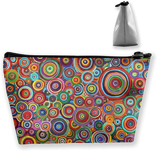 Makeup Bag Toiletry Pouch Cosmetic Bag with Psychedelic Trippy Art Candle Patterns