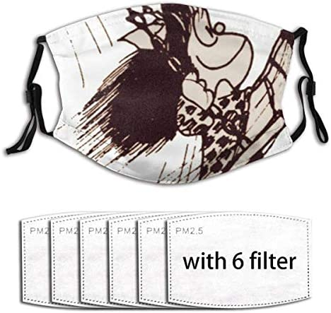 Laptop Skins Sleeves Mafalda Seamless Anti Dust Mouth Cover Face Scarf with Filter Washable product image