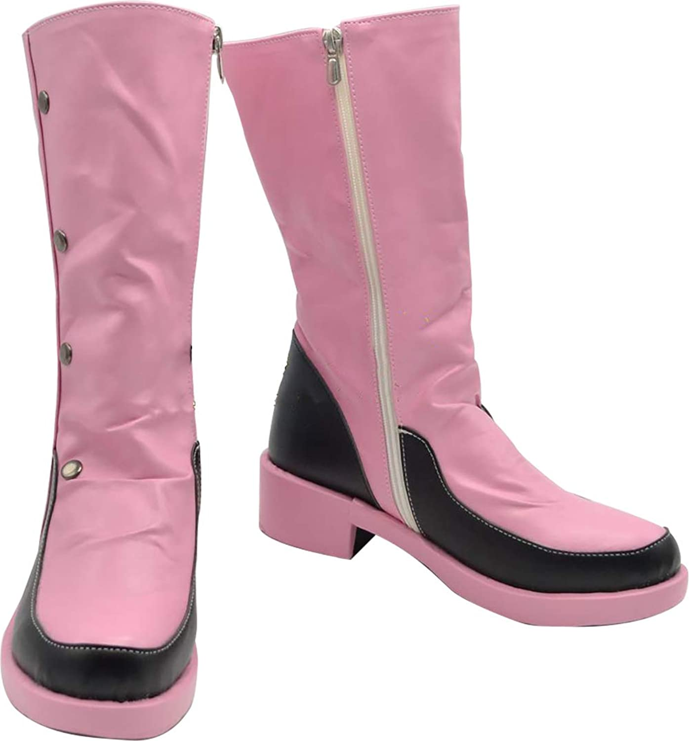 GSFDHDJS Cosplay Boots shoes for Cardcaptor Sakura Kinomoto Sakura Middle Boots