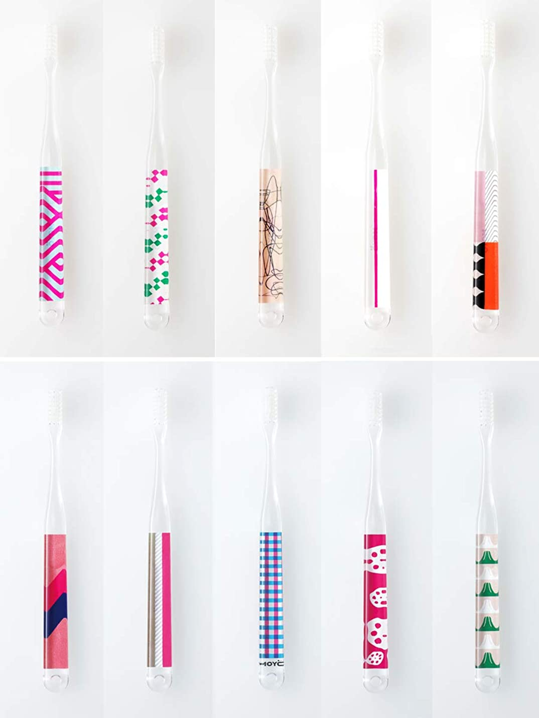 地下鉄寝室ふけるMOYO モヨウ 歯ブラシ Pink 10本セット_562302-pink 【F】,Pink10本セット ハブラシ