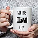 Taza de café divertida, regalo perfecto para oficiales de policía