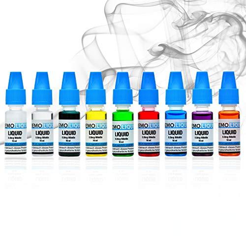 Bemoliquid Premium E Liquid ohne Nikotin für E Zigarette   intensives Aroma Liquid   E-Shisha Zubehör   starke Dampfentwicklung   Gebrauchsfertig   Dampfer Liquid (7 Leaves Tabak)