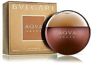 BVLGARI Eau De Toilette Spray for Men, Aqua Amara, 3.4 Ounce