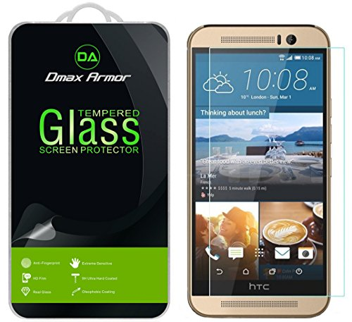 [2-Pack] Dmax Armor for HTC One M9 [Tempered Glass] Screen Protector