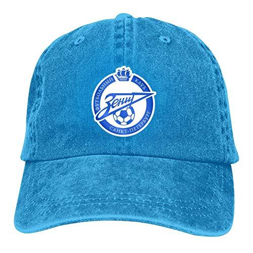 SDASE Gorra de béisbol de estilo polo con logo de Zenit ajustable, para hombre y mujer, 7 colores Azul azul Taille unique