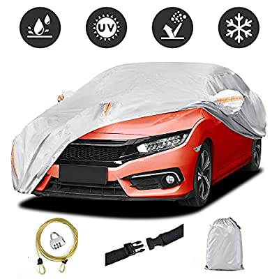 AUTOSAVER88 Car Cover for Sedan Waterproof Up to 177