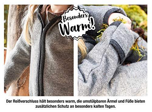 Ehrenkind® WALKOVERALL   Baby Wollwalk-Overalls aus Natur Schurwolle mit Reißverschluss   Walk Wolle Woll-Anzug für Kleinkind und Baby   Blau Gr. 74/80 - 7
