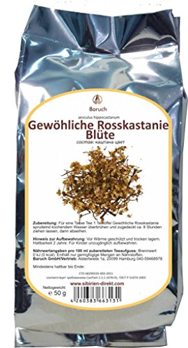 Rosskastanie Blüte - (Aesculus hippocastanum, Gemeine Rosskastanie, Weiße Rosskastanie) - 50g