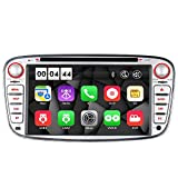 "16GB Radio Navi DVD GPS USB SD Bluetooth Autoradio CD Dual-Zone Subwoofer-Output DAB+ Mirrorlink VMCD mp3 mp4 7"" Touch Screen für F ord Mondeo mk4, Focus mk2, Cmax Smax Galaxy Kuga (Silber)"