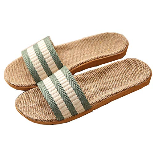 Zapatillas para Mujer Hombre Unisex Zapatillas de Estar por Casa de Lino Interior Sandalias de Playa Verano Primavera Otoño