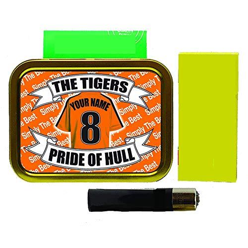 Hull City Football Shirt Personalised Tobacco Tin & Products Gift