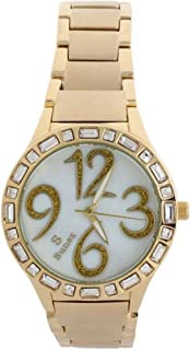 Sunex Women's Watch Analog Gold Stainless Steel White Dial S0373GW
