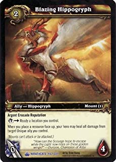 World of Warcraft TCG - Blazing Hippogryph (Unscratched Loot) (WG-156) - Wrath Gate