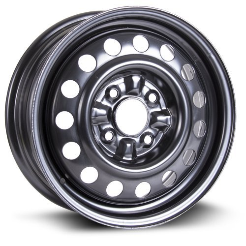 RTX, Steel Rim, New Aftermarket Wheel, 15X6, 4X114.3, 67.1, 45, black finish X99103N