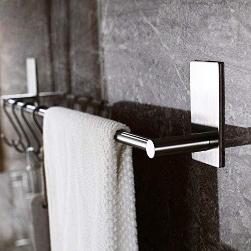 Kitlit Handtuchhalter Edelstahl Küche Bad 43CM Max 5kg Wasserdicht Selbstklebend ohne Bohren Wand Handtuchstange Badetuchhalter Badetuchstange Spültuchhalter Wandmontage 304 Edelstahl Gebürstet