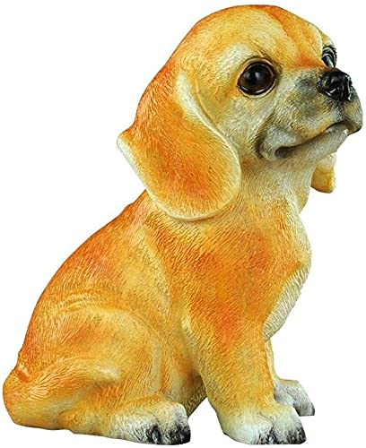 Estatuas de estatuillas de estatuillas de escultur Estatuas de estatuas de estatuillas de estatuillas de estatuajes, resina creativa para perros amarillo caja de dinero moneda hucha figura animal escu